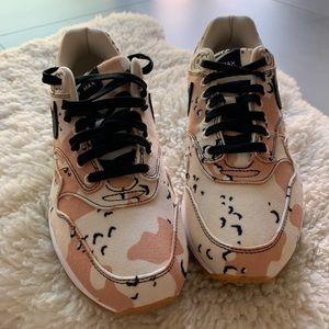 """Nike airmax1 premium """"beach camo"""" size 8.5"""